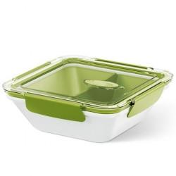 Emsa Bento Box z Wkładami 0.9L Zielono - Biały