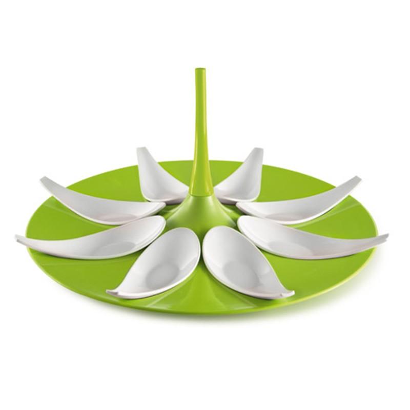 zielono - biały