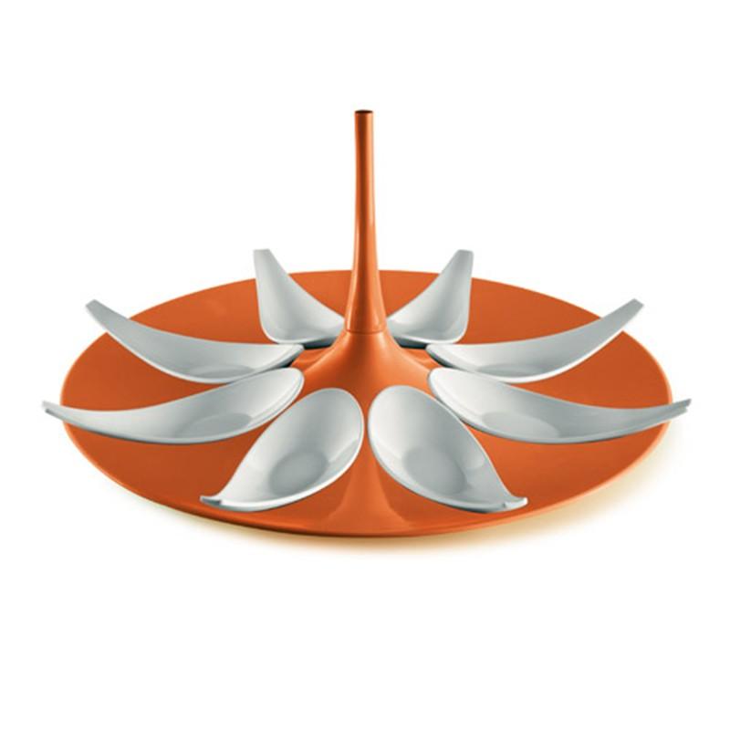 pomarańczowo - biały