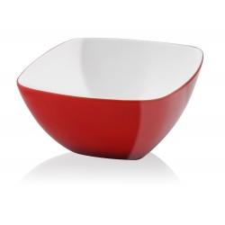 Vialli Design Miska Kwadratowa Livio 14 cm Czerwona