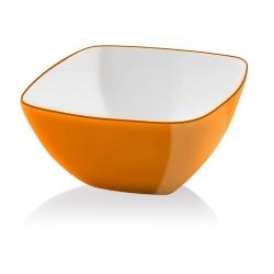 Vialli Design Miska Kwadratowa Livio 14 cm Pomarańczowa