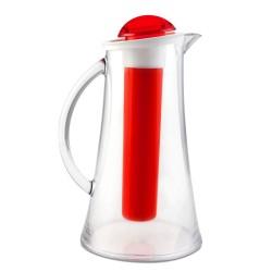 Vialli Design Dzbanek z Wkładem Na Lód Livio 2.4L Czerwony
